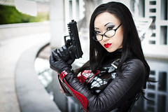 dragoncon (Anna Fischer) Tags: red black comics glasses dc comic dragon super comicbook yaya con han dragoncon pvc villian baroness vinly