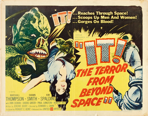 IT! THE TERROR FROM BEYOND SPACE (1958) half sheet