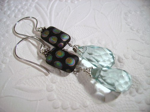 Peacock Earrings by OBTP-Jewelry