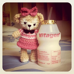 Shelliemay (One Love Cottage) Tags: bear pink cute toys dolls handmade crochet kawaii amigurumi crocheted crochetdolls amigurumidolls amigurumitoys crocheteddolls