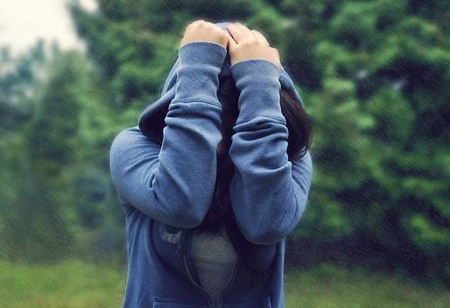 girl rain hoodie hands day all head go away jacket rainy cover week sweatshirt friday bummer