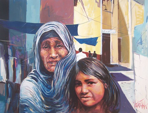 Seri Native and Nieta - Painting - Realism
