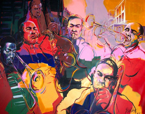 Jazz group - Painting by Paul Ygartua