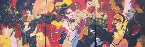 Jazz - Painting - Wall Mural