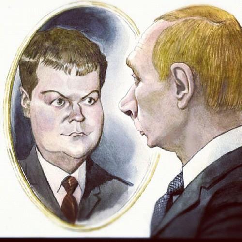 Гляжусь в тебя как в зеркало ... #medvedev #putin #russia