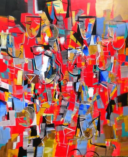 Carnival de Rio - Painting - Cubism