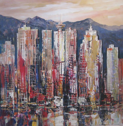 Granville Island View - Painting - Abstract