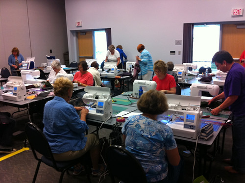 My Wool Baby Quilt class at NW Quilting Expo