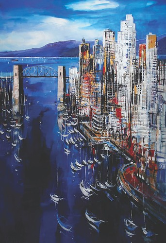 Burrard Bridge, Vancovuer - Painting - Impressionism