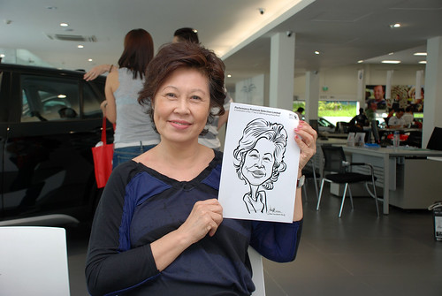 Caricature live sketching for Performance Premium Selection first year anniversary - day 3 - 11