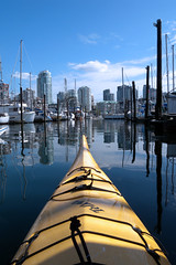 Saturday morning paddle (Vida Morkunas (seawallrunner)) Tags: autumn urban fall vancouver relax kayak paddle kayaking yaletown falsecreek paddling cwall 2011 ecomarine