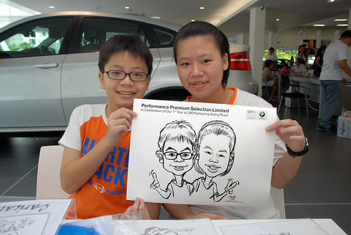 Caricature live sketching for Performance Premium Selection first year anniversary - day 4 - 9