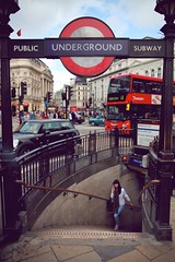 I'm slowly back from the hole ! (Pierre Mallien) Tags: street city uk red summer england urban bus london girl canon underground subway raw circus candid tube piccadilly whole jungle londres streetphoto ville trou londonist pitvanmeeffe mallien pierremallien