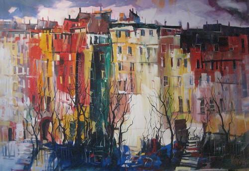 Paris Scene - Painting - Impressionism