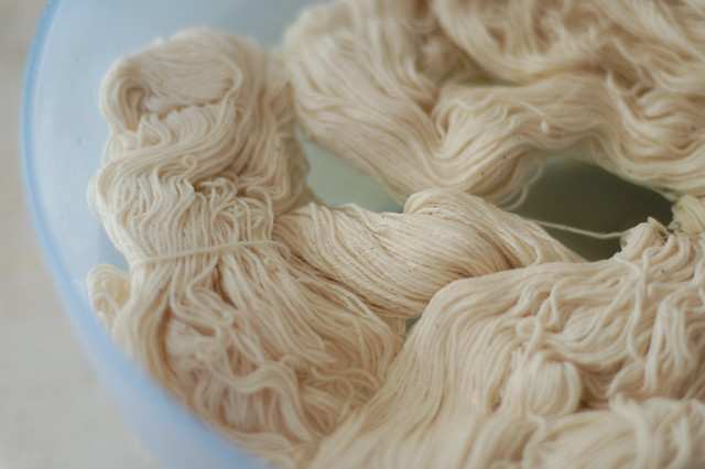 soaking yarn