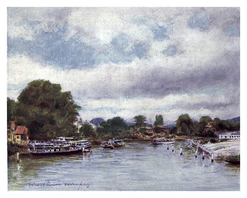011- Vista de Marlow-The Thames-1906- Mortimer Menpes