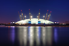 The Dome (TheFella) Tags: uk longexposure greatbritain light england sky slr london thames night digital docks photoshop canon river eos boat photo high europe dynamic unitedkingdom events capital greenwich o2 trails millennium event nighttime photograph dome processing slowshutter gb laser 5d dslr range riverthames hdr highdynamicrange primemeridian markii gmt millenniumdome northgreenwich postprocessing blackwall greenwichmeantime photomatix blackwalltunnel thefella 5dmarkii conormacneill thefellaphotography