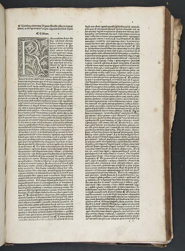 Woodcut initial in Hugo Senensis (Bentius): Consilia ad diversas aegritudines