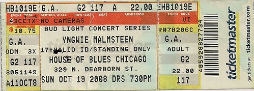 10-19-08 Yngwie Malmsteen @ HOB, Chicago, IL