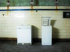 La laverie (| vincenth | ) Tags: laundry | urbex glauque carrelage machinealaver vetuste vincenth iphoneography snapseed vincenthuneau