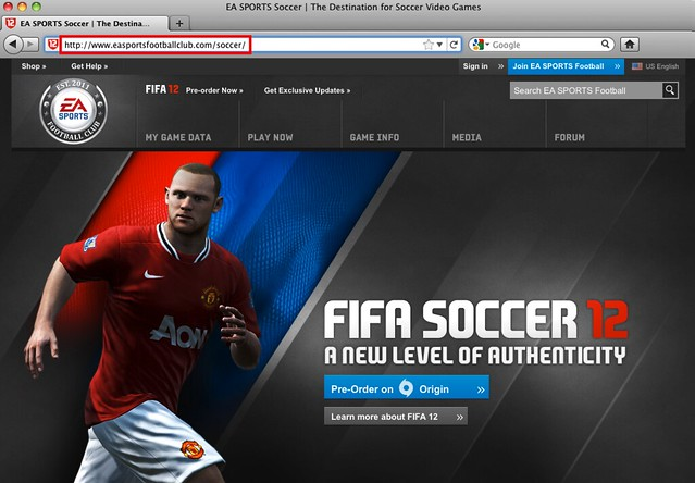 Fake EA SPORTS Football World URL