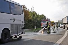 Zusammenstoß mit Reisebus A66 Biebrich 27.09.11
