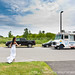 Southway Inn Wedding - Bride flags an ice cream truck