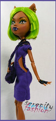clawdeen in a new dress (serenity jenny) Tags: monster high doll dolls hand handmade made custom outfits clawdeen