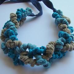 Chain  - Necklace #18 (moldarina) Tags: necklace natural handmade unique colar woolfelt cottonfabric textilejewellery