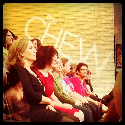 The audience at The Chew.