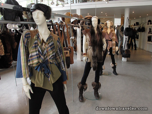 Harricana fur designs in Montreal store