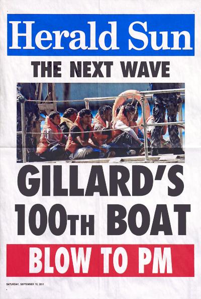 Herald SUN_Gillard's 100th Boat_400