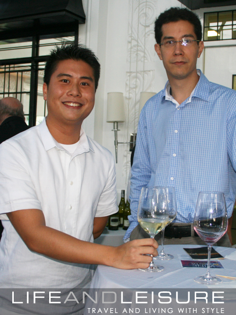 Daniel Perez at the wine tasting event