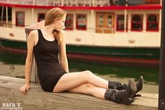 overlooking the water. (365daysofsarav) Tags: black girl portland model dress oldport laurel lbd uploadedviaflickrqcom