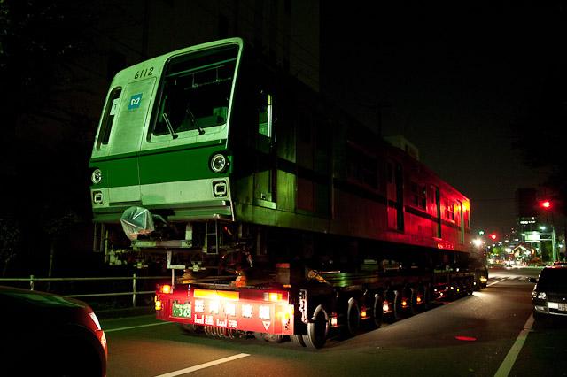 東京メトロ千代田線6000系 6112F 陸送