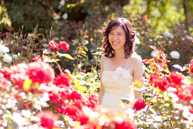 Bride in Rose Garden