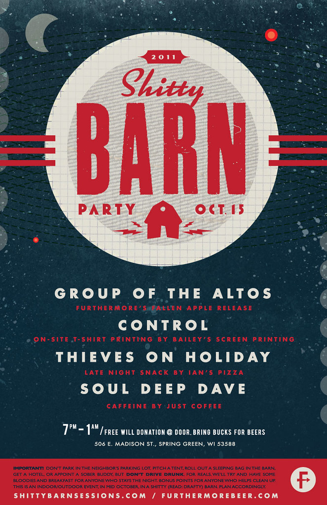 2011 Shitty Barn Party Poster