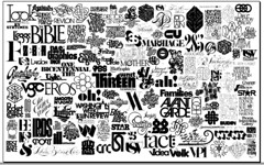 Logos designed by Lubalin Inc. over the years (Herb Lubalin Study Center) Tags: collage wall exhibition logos herblubalin lubalinnow