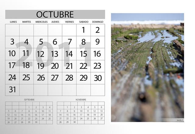 Calendario Octubre · Urriko egutegia