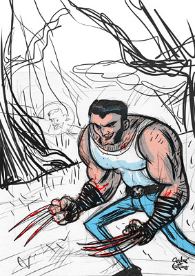 Wolverine Fanart - Composition study
