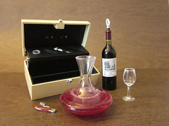 The Culture & Art of Red Wine Set #3 (MurderWithMirrors) Tags: miniature wine redwine bottleopener decanter icebucket mwm orcara thecultureartofredwine