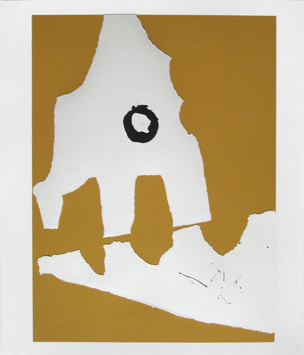 Robert Motherwell Color Screenprint & Collage