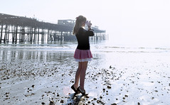 (Sofi Anne) Tags: abandoned beach girl self pier sofi derelict