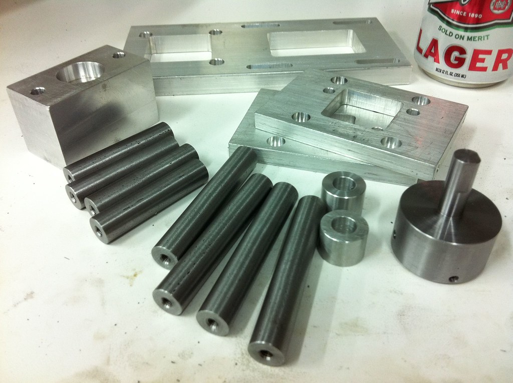 aluminum and steel parts for my G0704 CNC milling machine conversion