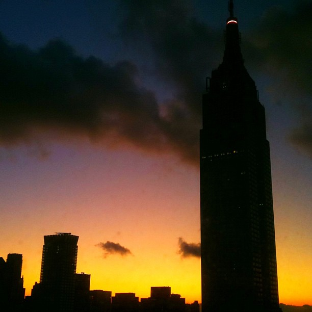 Sunrise over the Empire State Building