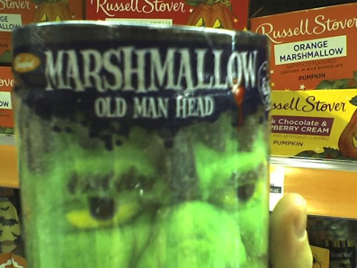 marshmallow old man head