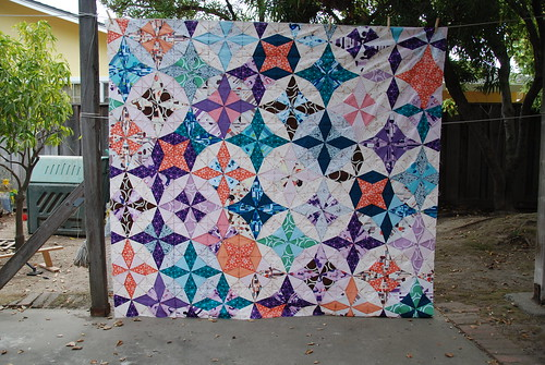 Completed Diamond Mountain Quilt Top!