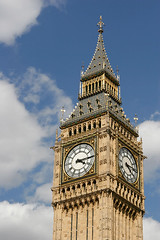 Elizabeth Tower (Big Ben), London (manxmaid2000) Tags: city uk travel blue england sky london tower english heritage history clock westminster architecture gold bell unitedkingdom housesofparliament bigben clocktower british iconic palaceofwestminster ststephenstower