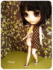 Mona wears a megipupu romper (Ciloon*) Tags: mona blythe custom pp romper megipupu punkaholicpeople cyrielle1