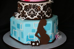 "Pink, blue and brown modern mom baby shower silhouette • <a style=""font-size:0.8em;"" href=""http://www.flickr.com/photos/60584691@N02/6212491510/"" target=""_blank"">View on Flickr</a>"